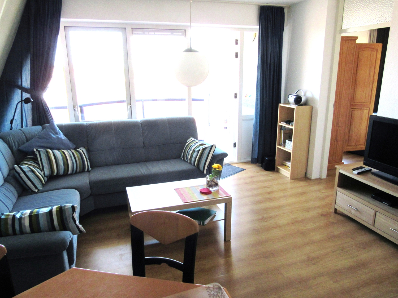 Wohnzimmer im Petten-Beach-Haus Nr. 18